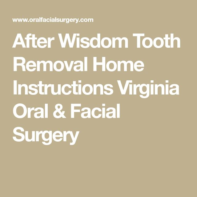 aftercare instructions for wisdom teeth removal