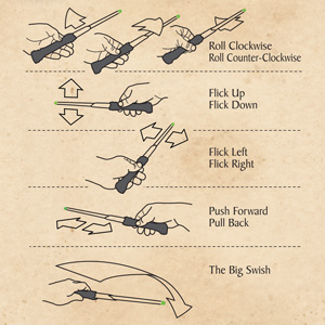 harry potter wand remote instructions