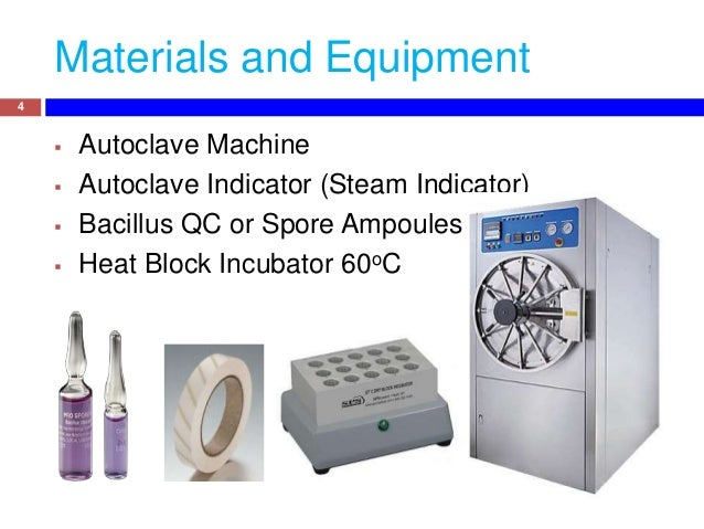spore testing autoclave instructions