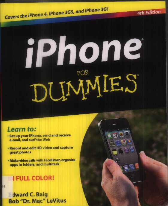 iphone 3 instructions for dummies