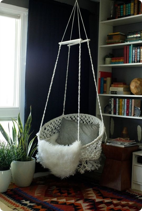 macrame hanging chair instructions