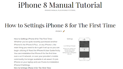 instruction manual for iphone 8