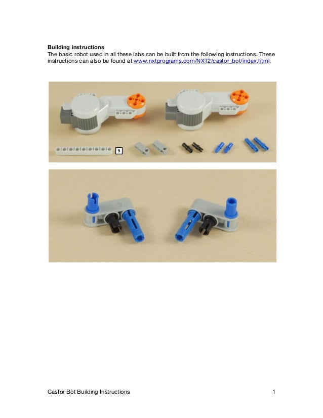 nxt tribot building instructions